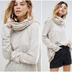 Free People Beach Cocoon Cowl Neck Pullover Tunic